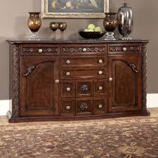 Marlo Furniture Liquidation Center by Millennium North Shore Traditional Server With Ornate Carved