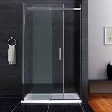 Cw Shower Doors by 1100 X 800 Frameless Shower Enclosure Sliding Door Side Panel