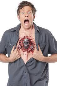 prosthetic halloween mask alien parasite halloween chest piece latex alien chest prosthetic