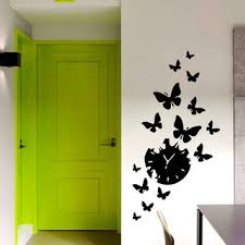 Wall Design For Hall Wall Decal Vinyl Sticker Clock With Bird From Vinyldecals2u On