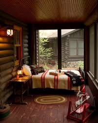 rustic cabin u0027s screened porch turned bedroom central minnesota