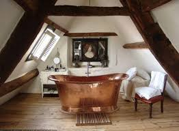 20 rustic bathroom designs with copper bathtub attic bathroom