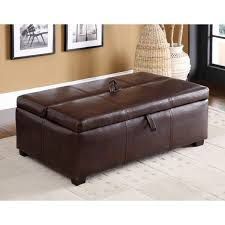 Ottoman Sleepers Furniture Of America Kaya Bicast Leather Ottoman Sleeper Free