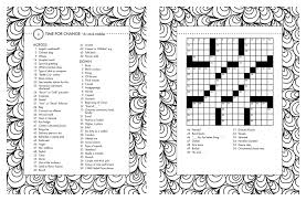 posh crosswords coloring book