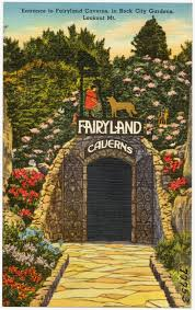 file entrance to fairyland caverns in rock city gardens lookout