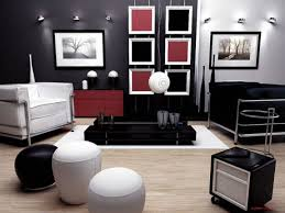 Decorate Living Room Black Leather Furniture Apartment Captivating White Fabric Sofa With Green Accent Pillow