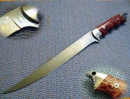 custom kitchen knives for sale custom made damascus sharky cactus fillet knife by cote custom