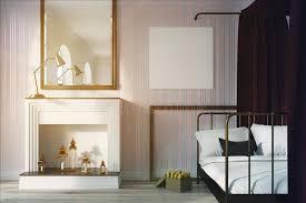 chambre du vide chambre à coucher cheminée et affiche modifiées la tonalité