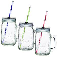 Kitchen Glass Canisters With Lids Amos Clear Glass Cocktail Wine Beer Drinking Drink Handled Jam