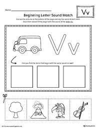 finding and connecting letters letter v worksheet