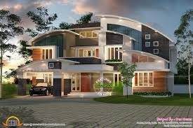 Kerala Home Design May 2015 Contemporary Curved Roof House Kerala Home Design And Floor Plans