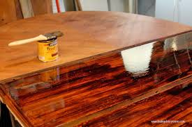 refinish oak kitchen table reliable restaining furniture staining 101 finding silver pennies