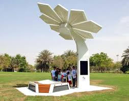 solar powered smart palms provide beachgoers with wi fi and
