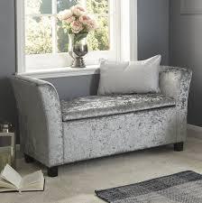 Upholstered Storage Bench Uk Living Room Brilliant Light Grey Upholstered Storage Bench With