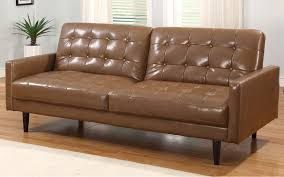 Modern Leather Sleeper Sofa Sofas Leather Sleeper Sofas Light Brown Sofa Wooden Floor White