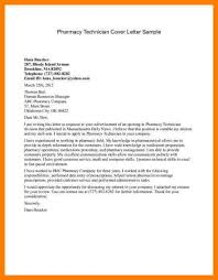 pharmacy technician cover letter samples pharmacy technician