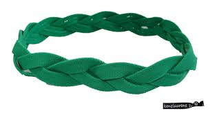 green headband braided headband no slip grip green