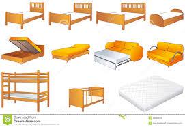 Storage Bedroom Furniture Sets Bedroom Furniture Set Vector Illustration Royalty Free Stock