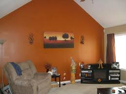 Orange And Blue Home Decor Orange Walls Living Room Designs Decoration And Simply Home Simple