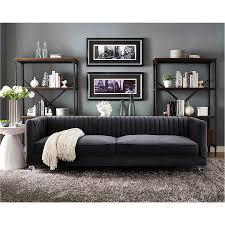 modern sofas anatoli gray velvet sofa eurway