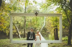 wedding backdrop frame a backyard barn wedding in the woods bud