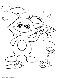 alien coloring pages aliens page a free boys throughout how to