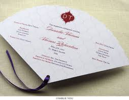 indian wedding programs indian wedding program fan with monogram imbue you
