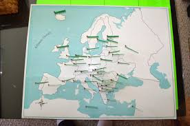 Europe Map With Capitals by What Did We Do All Day Diy Pin Maps Cabinet Of World Parts