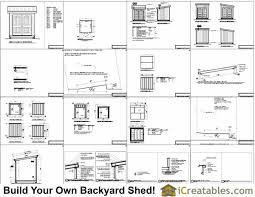 Diy Lean To Storage Shed Plans by 8x8 Lean To Shed Plans Storage Shed Plans Icreatables Com