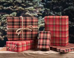 christmas plaid wrapping paper lumberjack plaid wrapping paper