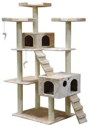 go pet club cat tree 50w x 26l x 72h beige pet