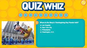 quiz whiz thanksgiving