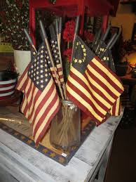 Betsy Ross Flags Dyed Country Primitive American Flags Medium