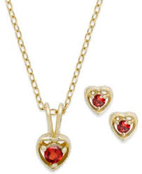 childrens necklace children s 18k gold sterling silver necklace and earrings set