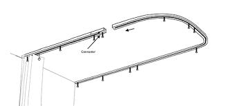 ceiling shower trak rod installation instructions