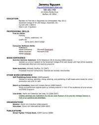 Resume For Summer Job College Student by College Student Resume For Summer Job