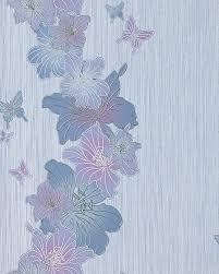 Schlafzimmer Tapete Blau 3d Tapete Blumentapete Edem 108 34 Landhaus Floral Designer