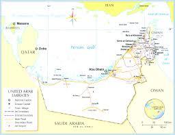 United Arab Emirates Map Emirates Of The United Arab Beauteous Abu Dhabi And Dubai Map