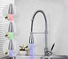 Led Kitchen Faucets Kitchen Impeccable Chrome Kitchen Faucet Pull Out To Perfect Your