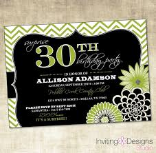 template elegant 30th birthday invitations afternoon tea with