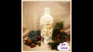christmas decoupage bottle collab with