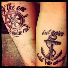 sailor compass and anchor tattoos