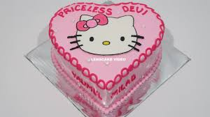 kitty cake love birthday cake