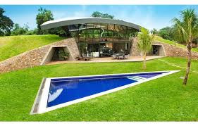 homes built into hillside a unique hillside home built into the landscape modern wood