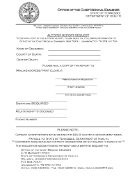 autopsy report template request autopsy report tn fill printable fillable