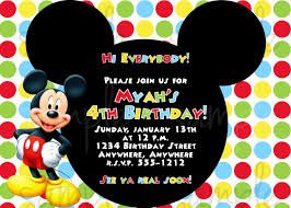Invitations Cards For Birthday Mickey Mouse Birthday Invitations Mickey Mouse Birthday