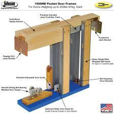 How To Install A Prehung Front Door Johnsonhardware Com Sliding Folding Pocket Door Hardware