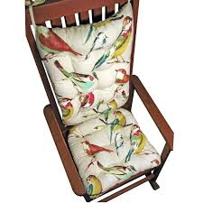 Rocking Chairs Cushions Rocking Chair Cushions And Song Bird Multi Seat Cushion Back Rest