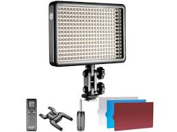 remote audio video lighting neewer photo studio led 308c with 308 pieces led high power dimmable