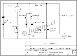 thermostat for room heater